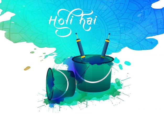 Abstracte kleurrijke holi-festivalviering