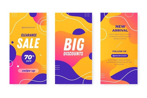 Abstracte kleurrijke instagram promotionele verkoopverhalen