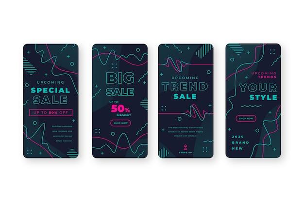 Abstracte kleurrijke instagram verkoopverhalen