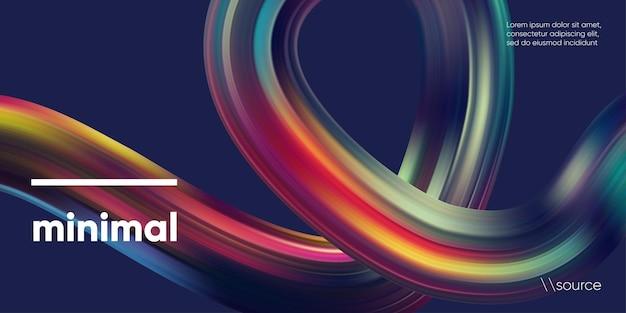 Abstracte kleurrijke lint 3d achtergrond