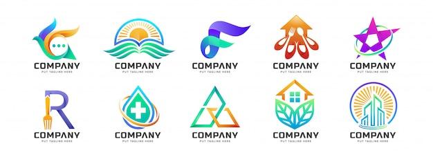 Abstracte kleurrijke logo collectie