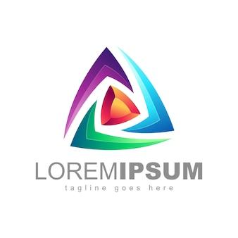 Abstracte kleurrijke logo ontwerp vector