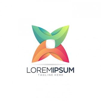 Abstracte kleurrijke logo sjabloon