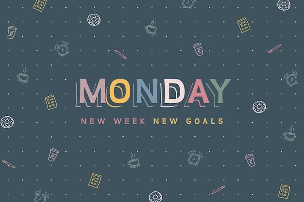 Abstracte kleurrijke maandag achtergrond