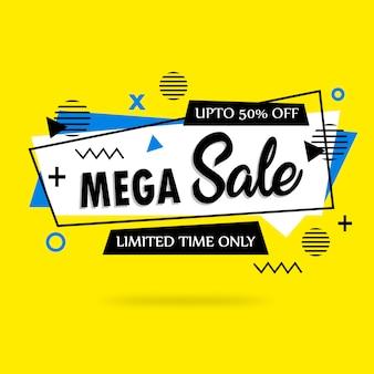 Abstracte kleurrijke mega-verkoop achtergrond