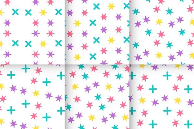 Abstracte kleurrijke memphis patroon ontwerp achtergrond