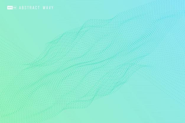 Abstracte kleurrijke minimale deeltjesachtergrond.