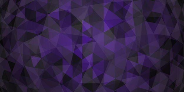 Abstracte kleurrijke mozaïekachtergrond van doorschijnende driehoeken in donkerpaarse kleuren