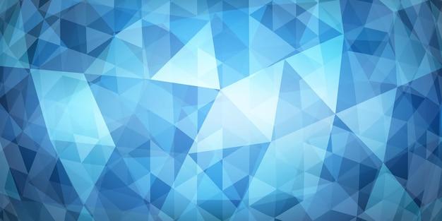 Abstracte kleurrijke mozaïekachtergrond van doorschijnende driehoeken in lichtblauwe kleuren