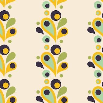 Abstracte kleurrijke naadloze patroon met drop ronde vormen plat