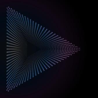Abstracte kleurrijke neonpunten
