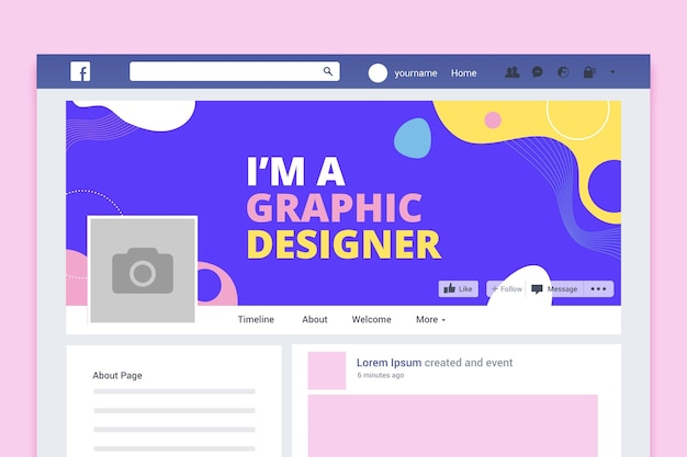 Abstracte kleurrijke ontwerp facebook omslag