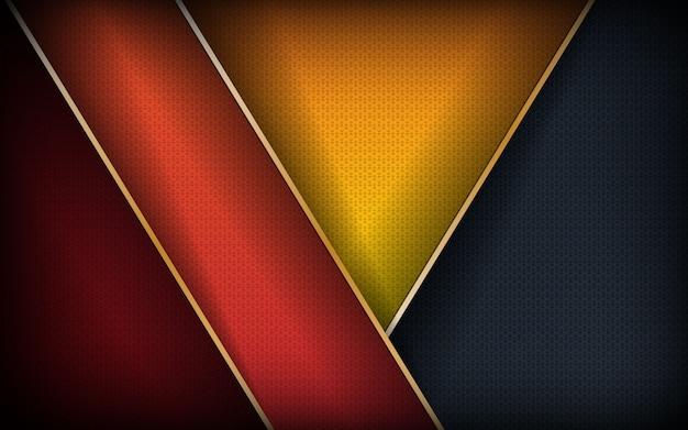Abstracte kleurrijke overlappende laag achtergrond
