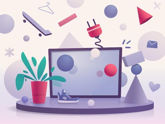 Abstracte kleurrijke poster voor web en print