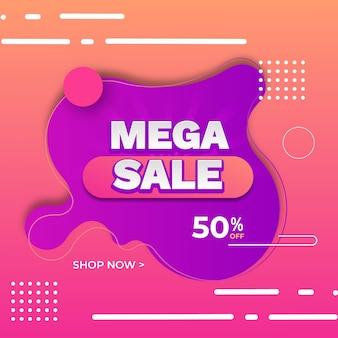 Abstracte kleurrijke promotionele verkoop achtergrond