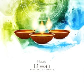 Abstracte kleurrijke religieuze gelukkige diwali-achtergrond