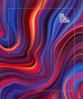 Abstracte kleurrijke stroom achtergrond. golfkleur vloeibare vorm.