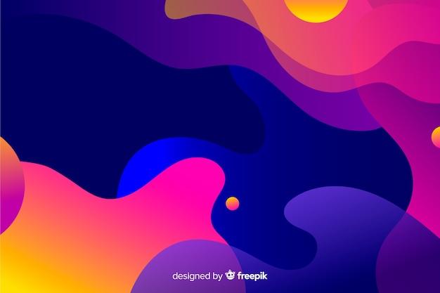 Abstracte kleurrijke stroom vormen achtergrondontwerp