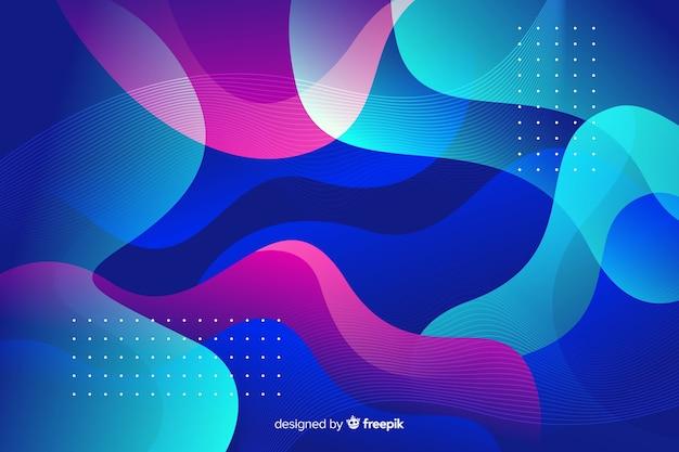 Abstracte kleurrijke stroomvormen achtergrond