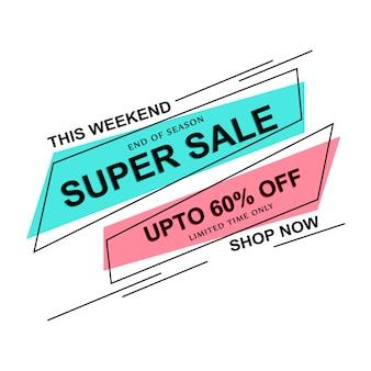Abstracte kleurrijke super verkoop achtergrond