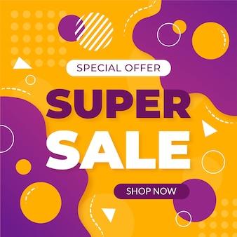 Abstracte kleurrijke super verkoopachtergrond