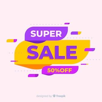 Abstracte kleurrijke super verkoopbanner