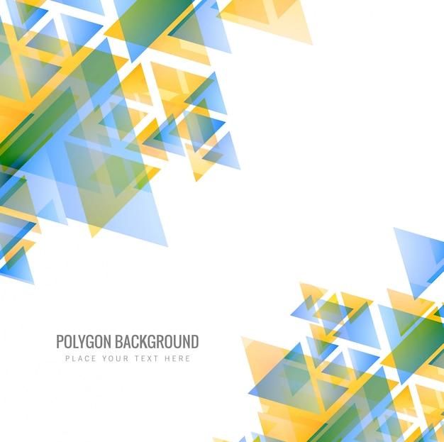 Abstracte kleurrijke veelhoek achtergrondillustratie