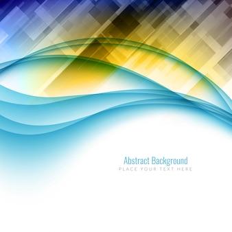 Abstracte kleurrijke veelhoekige golvende achtergrond