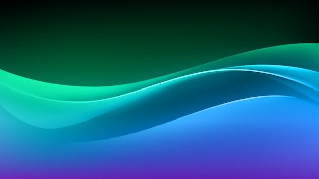 Abstracte kleurrijke veelkleurige wave achtergrond