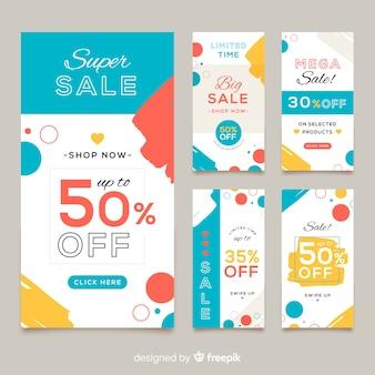 Abstracte kleurrijke verkoop banner templates-collectie