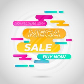 Abstracte kleurrijke verkoopbanner