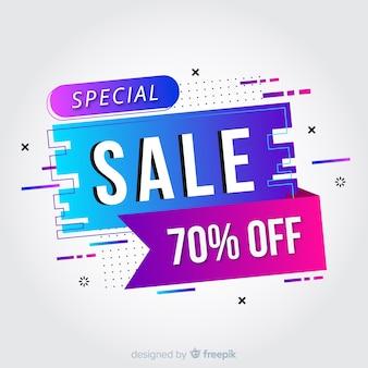 Abstracte kleurrijke verloop verkoop banner