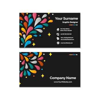 Abstracte kleurrijke visitekaartje set