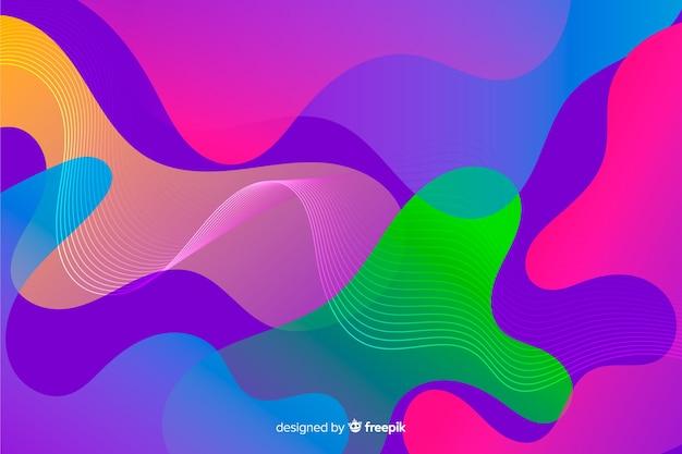 Abstracte kleurrijke vloeiende vormen achtergrond