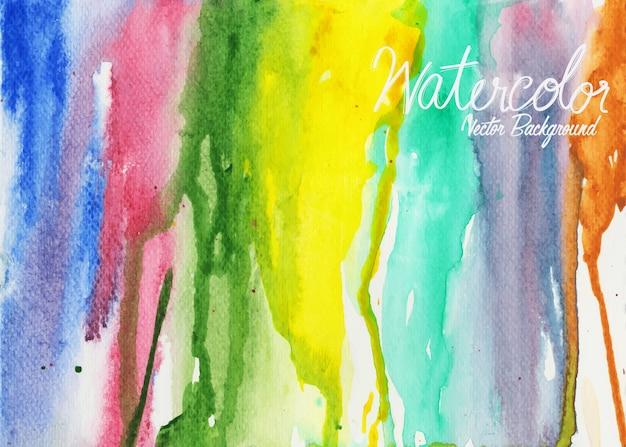 Abstracte kleurrijke waterverf op witte achtergrond