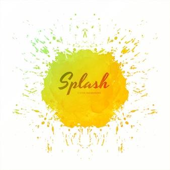 Abstracte kleurrijke zachte aquarel splash vector