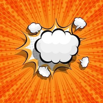 Abstracte komische, popart achtergrond met lege toespraak bubble illustratie