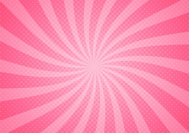 Abstracte komische roze illustratie cartoon stijl. achtergrond