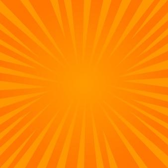 Abstracte komische zonnestraal eenvoudige achtergrond vectorillustratie