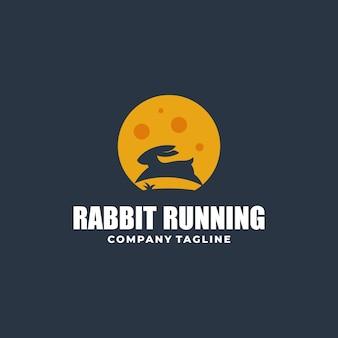 Abstracte konijn kleur concept illustratie vector sjabloon