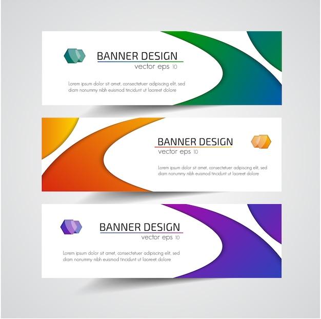 Abstracte kopbal banner ontwerp vector achtergrond.