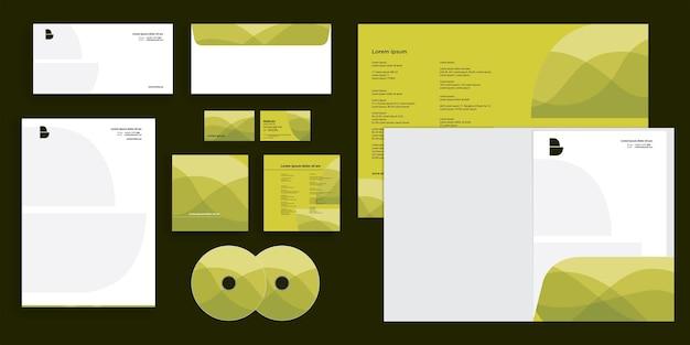 Abstracte krullende golf gewaagde vorm moderne zakelijke zakelijke identiteit stationair