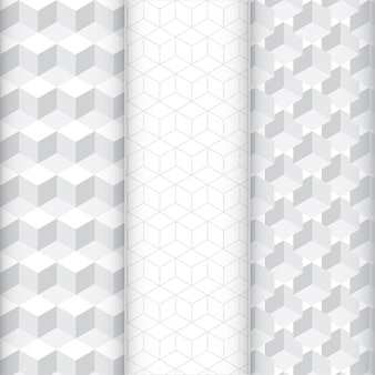 Abstracte kubus patroon set.