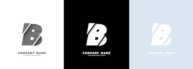 Abstracte kunst alfabet letter b logo. gebroken ontwerp.