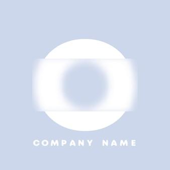 Abstracte kunst alfabet letter o logo. glasmorfisme. wazig lettertype, typografieontwerp, alfabetletters en cijfers. defocus lettertypeontwerp, gericht en intreepupil stijlalfabet. vector illustratie