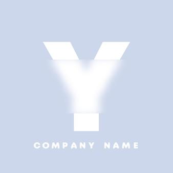Abstracte kunst alfabet letter y logo. glasmorfisme. wazig lettertype, typografieontwerp, alfabetletters en cijfers. defocus lettertypeontwerp, gericht en intreepupil stijlalfabet. vector illustratie.