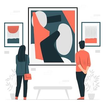 Abstracte kunst concept illustratie