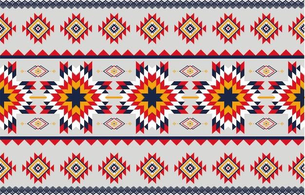 Abstracte kunst geometrische inheemse patroon naadloze. herhalende geometrische achtergrond.