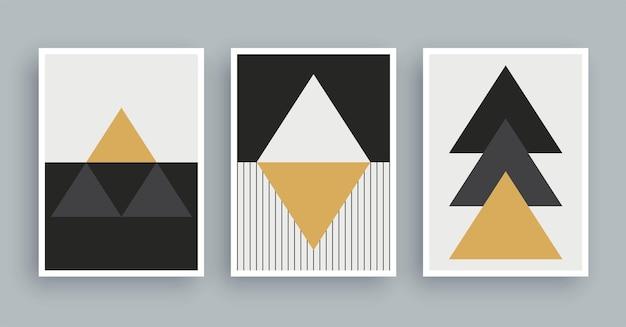 Abstracte kunst schilderij met boho kleuren achtergrond. minimalistische moderne schilderkunst geometrische elementen.