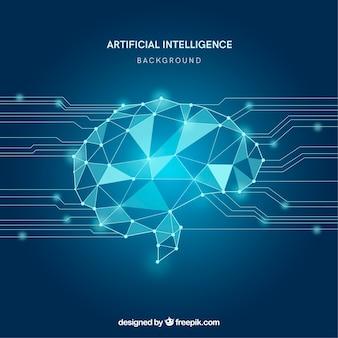 Abstracte kunstmatige intelligentie achtergrond